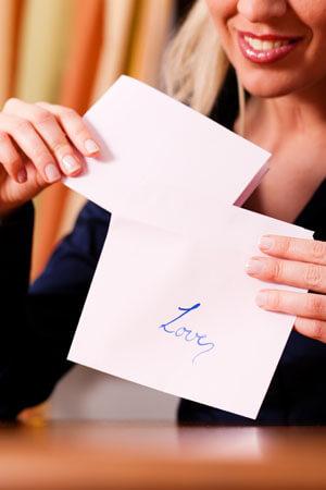 Brief von Dame