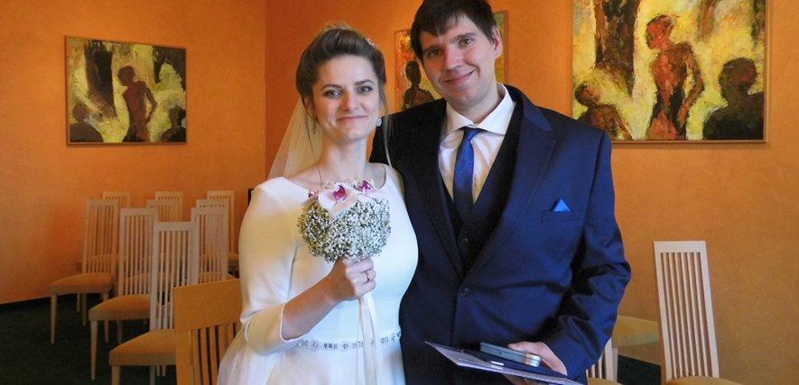 Glückliches Paar Ekaterina und Jochen