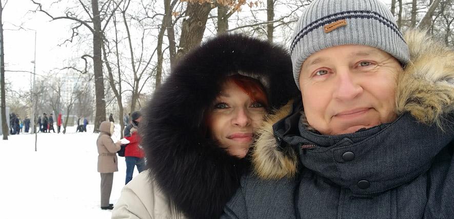 Glückliches Paar Lyudmila und Robert
