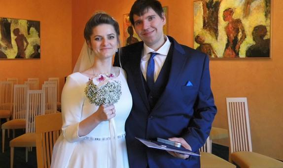 Heirat von Ekaterina und Jochen