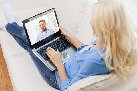 Kennenlernen per Video-Chat